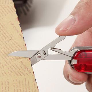 维氏VICTORINOX瑞士军刀德莱蒙 理容伴侣580(指甲钳剪刀指甲锉 8种功能)透明红亮面0.6463.T