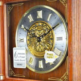 精工(Seiko)时尚创意欧式居家客厅木质音乐座钟台钟
