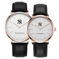 MLB 美国职棒大联盟 MLB-SD025-3/NY 时尚情侣石英表  简约尼龙带 防水 买一送二 礼盒套装