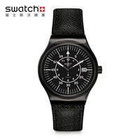 swatch 斯沃琪 装置51系列   YIB400 时尚自动机械男表 黑色 王俊凯同款
