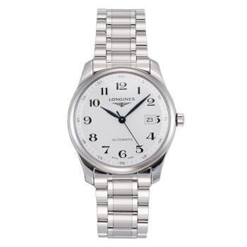 LONGINES 浪琴 名匠系列 L2.793.4.78.6 男士机械手表 40mm 白色 银色 不锈钢