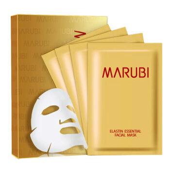 丸美(MARUBI)弹力蛋白精华面膜(4片每盒)补水保湿滋润 呵护肌肤 护肤品 面贴膜