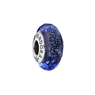 PANDORA 潘多拉 925银 791646 闪耀蓝色切割面琉璃串饰 *3件