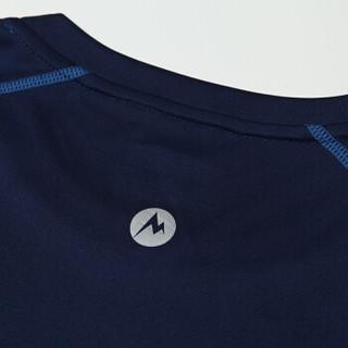 Marmot 土拨鼠 S54310 男款长袖T恤(深海军蓝/法国蓝 M)