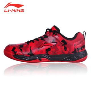 LI-NING 李宁 AYTM107 男士羽毛球鞋 朱砂红/冬青红 43