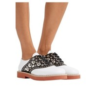 MIU MIU Embellished two-tone 女士皮鞋