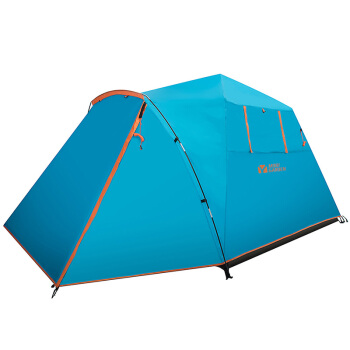 MOBI GARDEN 牧高笛 家庭用大空间全自动野露营3-4人速开搭建双层帐篷 EXZQU61004 蓝色