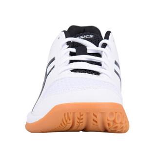 ASICS 亚瑟士 B756Y-0190 女士羽毛球运动鞋 (白|黑、39.5)