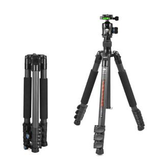 SIRUI 思锐 思锐(SIRUI)三脚架 ET2204+K20X 碳纤维含云台佳能尼康单反相机三角架 扳扣反折单反相机三脚架 稳定便携