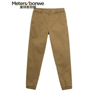 Meters bonwe 美特斯邦威 748116 男士肌理斜纹跑裤 貂棕 165/68