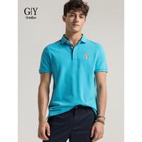 goldlion 金利来 TS0H049-G1107 男士短袖Polo衫 蓝色 2XL