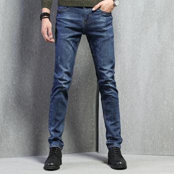 pierre cardin 皮尔·卡丹 203745 男士柔软休闲直筒牛仔裤 蓝色 32