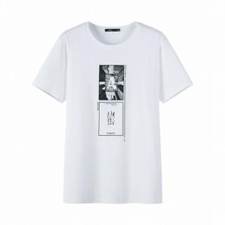 Semir 森马 19038001213 男士短袖T恤 漂白 XS