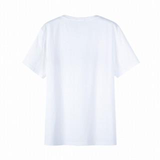 Semir 森马 19038001237 男士圆领短袖T恤 漂白 XXL