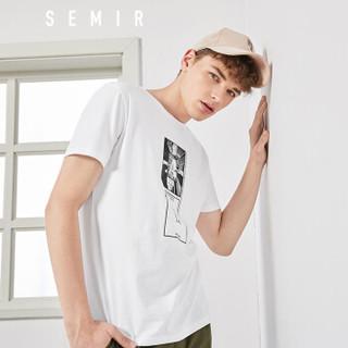 Semir 森马 19038001213 男士短袖T恤 漂白 XL