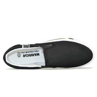 WARRIOR 回力 WXY-903 男士套脚帆布鞋 黑色 43