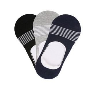 GIORDANO 佐丹奴 01156001 男士隐形船袜 三对装 黑/白/海军蓝色 均码