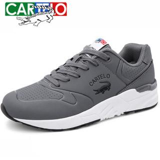 CARTELO 卡帝乐鳄鱼 KDL7C8600 中性休闲板鞋 灰色 36