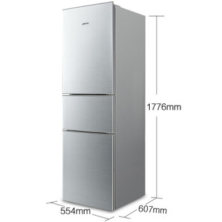 DIQUA 帝度 BCD-220TY 220升 三门冰箱