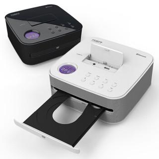 RSR cd机 音响 音箱 早教胎教DVD播放机 蓝牙高清迷你组合音响 儿童英语学习VCD光盘 白色DD515