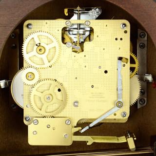赫姆勒(HERMLE)设计师款14天动力储存机械座钟21125-030340 咖啡色