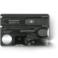 维氏VICTORINOX瑞士军刀 瑞士卡(照明灯4规格改锥放大镜 13功能)黑透磨砂面0.7333.T3
