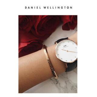 DanielWellington 丹尼尔惠灵顿 DW00400003 手表专属搭配 简约女士金色开口手镯小号 奚梦瑶明星同款