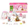 Sylvanian Families 森贝儿家族 双人套装玩具 猫兔宝宝房间套 SYFC17058