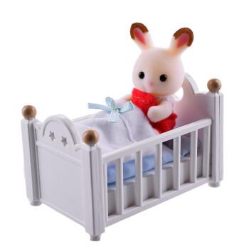 Sylvanian Families 森贝儿家族 兔家族系列 巧克力兔家族 巧克力兔宝宝家具套SYFC22058