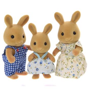 Sylvanian Families 森贝儿家族 家族系列 过家家玩具 蜜兔家族 SYFC14748