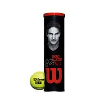 威尔胜(Wilson)WRT11990M 费德勒训练球 专业网球 RF 4只/罐