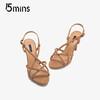 15MINS 15分钟 ULZ66BL8 女士细高跟凉鞋 (棕色、38)