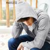 Markless WYA7424M 男士拉链连帽卫衣