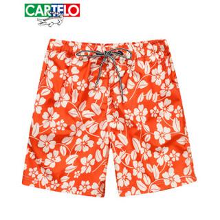CARTELO KFZ2090 男士运动沙滩碎花宽松五分裤