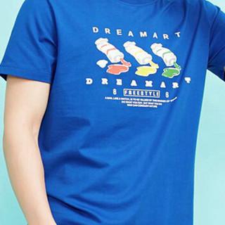 Meters bonwe 美特斯邦威 601841 男士趣味图案短袖T恤 网络蓝 185/104