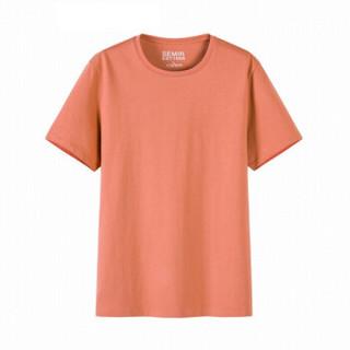 Semir 森马 19018001233 男士圆领短袖T恤 深土黄 XL