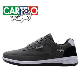 CARTELO 卡帝乐鳄鱼 KDL819 男士户外运动鞋 灰色 40