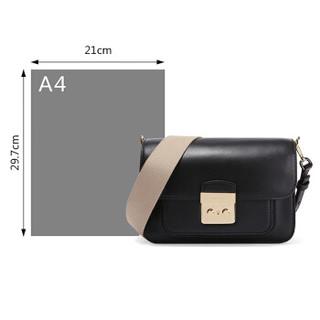 MICHAEL KORS 迈克 科尔斯 MK女包 SLOAN EDITOR系列黑色牛皮时尚女士单肩包 30T7GS9L3L BLACK