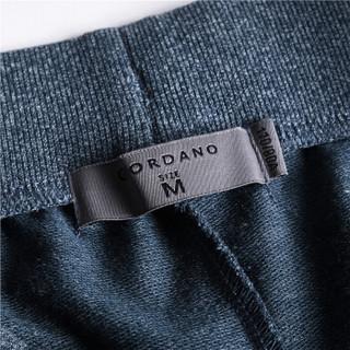 GIORDANO 佐丹奴 90107417 男士简约抽绳休闲短裤 蓝 165/74A