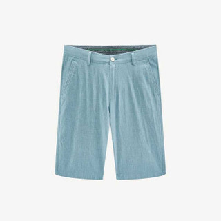 HLA 海澜之家 HKMCD2E004A 男士格纹棉麻休闲中裤 中绿格纹 40