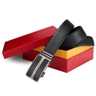 goldlion 金利来 A8C0021-11 男式板扣皮带 黑色