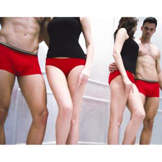 恒源祥 0262 女士红色内裤袜子组合装 (175/100、袜子2双+内裤2条)