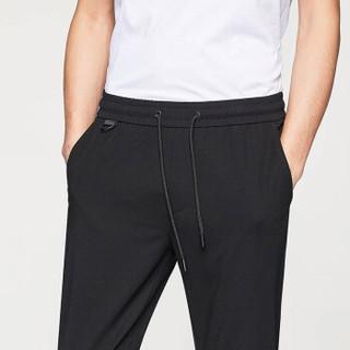 HLA 海澜之家 HKCAD1E140A 男士针织休闲裤 黑色 31
