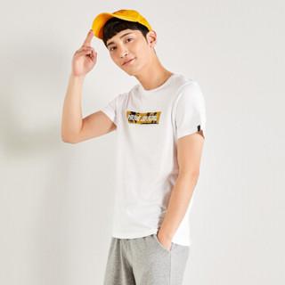 Semir 森马 19048001255 男士短袖T恤 漂白 S