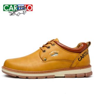 CARTELO 卡帝乐鳄鱼 KDLG05 男士运动休闲板鞋 黄色 41