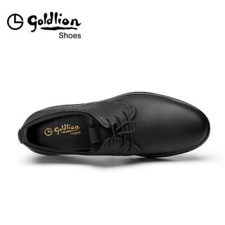 goldlion 金利来 508730761ATB 男士商务休闲皮鞋 黑色 41