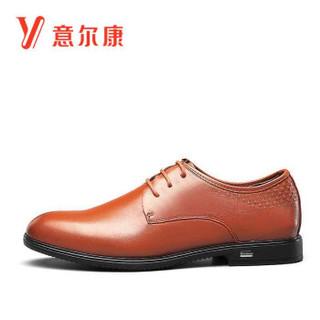 YEARCON 意尔康 7131ZR97515W 男士商务正装皮鞋 土黄 39