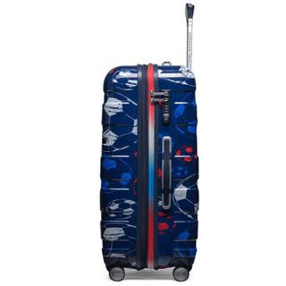 美旅AmericanTourister拉杆箱 世界杯主题行李箱足球男女万向轮大容量可扩展 29英寸TSA密码锁DU9蓝色印花