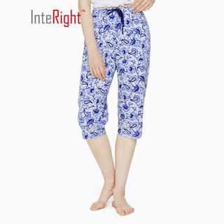 InteRight 女士全棉印花轻薄七分裤