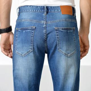 pierre cardin 皮尔·卡丹 701 男士微弹直筒牛仔裤 蓝色 32
